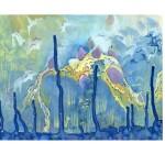 Stegosaurus, 2008, gouache